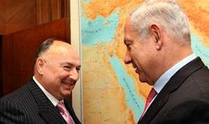 Leder af European Jewish Congress Moshe Kantor sammen med Netanjahu