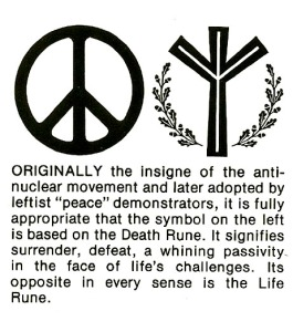 Life Rune and Peace Symbol