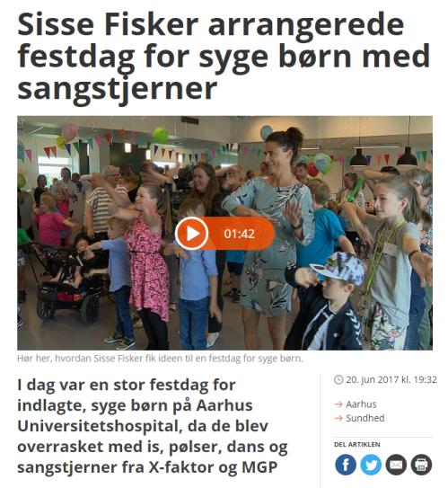 2017-06-22 20_00_48-Sisse Fisker arrangerede festdag for syge børn med sangstjerner _ TV2 ØSTJYLLAND
