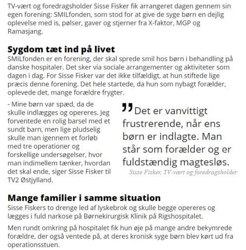 2017-06-22 20_01_23-Sisse Fisker arrangerede festdag for syge børn med sangstjerner _ TV2 ØSTJYLLAND