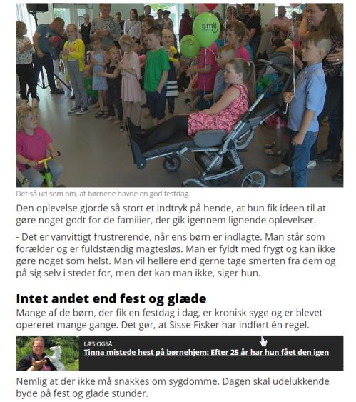 2017-06-22 20_01_51-Sisse Fisker arrangerede festdag for syge børn med sangstjerner _ TV2 ØSTJYLLAND